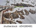 Train On A Railway In Alaskan...