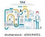 vector flat line design concept ... | Shutterstock .eps vector #654194551
