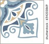 portuguese tiles pattern.... | Shutterstock .eps vector #654203869