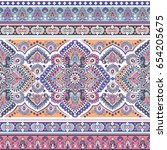beautiful indian floral paisley ... | Shutterstock .eps vector #654205675