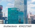 new york city  circa 2017 ... | Shutterstock . vector #654217369