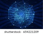 abstract technology concept... | Shutterstock .eps vector #654221209