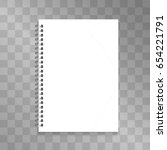 realistic spiral notepad vector ... | Shutterstock .eps vector #654221791