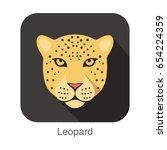 Leopard  Cat Breed Face Cartoo...
