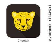 Cheetah  Cat Breed Face Cartoo...