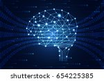 abstract technology science... | Shutterstock .eps vector #654225385