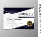 certificate premium template...   Shutterstock .eps vector #654229759