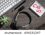 manager office with contact us... | Shutterstock . vector #654231247