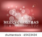 greeting of merry christmas | Shutterstock . vector #65423434