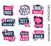 sale and discount badge set... | Shutterstock .eps vector #654242581