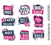 sale and discount badge set... | Shutterstock .eps vector #654242581