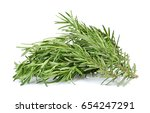 rosemary isolated on the white... | Shutterstock . vector #654247291