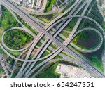 elevated expressway. the curve...   Shutterstock . vector #654247351