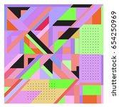 trendy geometric elements...   Shutterstock .eps vector #654250969