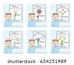 illustration vector young man... | Shutterstock .eps vector #654251989