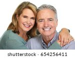 senior couple smiling. | Shutterstock . vector #654256411