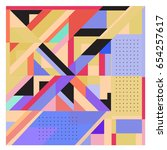 trendy geometric elements... | Shutterstock .eps vector #654257617