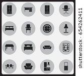 set of 16 editable interior...