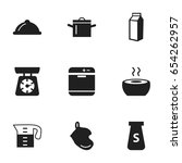 set of 9 editable kitchen icons....