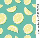 slice of a lemon patterns | Shutterstock .eps vector #654263359