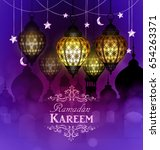 ramadan kareem  greeting... | Shutterstock .eps vector #654263371