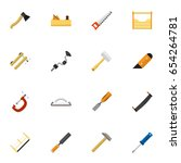 set of 16 editable tools icons. ...