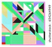 trendy geometric elements...   Shutterstock .eps vector #654264949
