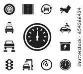 set of 12 editable transport... | Shutterstock .eps vector #654266434