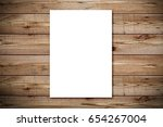 top view of blank paper page on ... | Shutterstock . vector #654267004