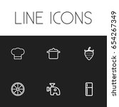 set of 6 editable cook icons....