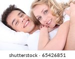 portrait of a man and a woman... | Shutterstock . vector #65426851