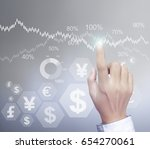 financial symbols coming from... | Shutterstock . vector #654270061