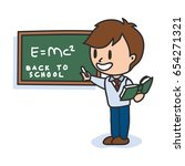 back to school cartoon... | Shutterstock .eps vector #654271321