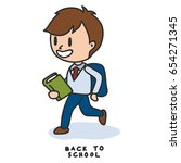 back to school cartoon... | Shutterstock .eps vector #654271345