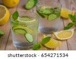 detox water  fresh organic... | Shutterstock . vector #654271534