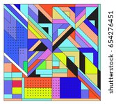 trendy geometric elements... | Shutterstock .eps vector #654276451