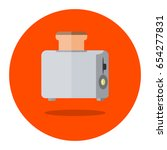 illustration of toaster  flat...   Shutterstock .eps vector #654277831