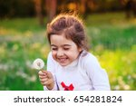beautiful little child with... | Shutterstock . vector #654281824