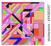 trendy geometric elements... | Shutterstock .eps vector #654282037