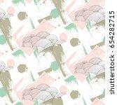 rain pattern with brush... | Shutterstock . vector #654282715