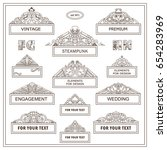 vector vintage elements for... | Shutterstock .eps vector #654283969