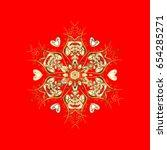 celebratory with golden... | Shutterstock . vector #654285271