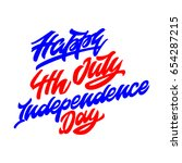 2017 happy 4th july... | Shutterstock .eps vector #654287215