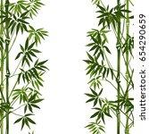 bamboo seamless vertical border ... | Shutterstock .eps vector #654290659