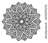 mandalas for coloring book.... | Shutterstock .eps vector #654293191