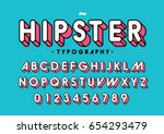 vector of modern colorful font... | Shutterstock .eps vector #654293479