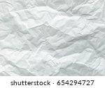 white sheet of paper folded.... | Shutterstock . vector #654294727