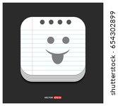 emoji icon | Shutterstock .eps vector #654302899