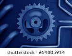industrial machinery and... | Shutterstock . vector #654305914