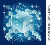 fintech investment financial... | Shutterstock .eps vector #654312547